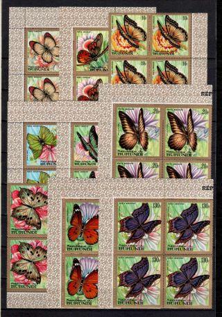 Belgisch Congo Belge Burundi N°pa82/90 Bl Of 4 Airmail Butterflies C220.  00eu photo