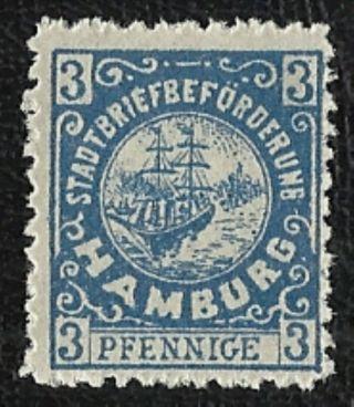 + 1888 Hamburg German States Sailing Ships 3pf Local Stadtpost Bob Small Type photo