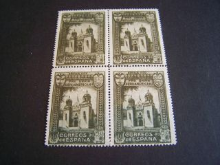Spain.  436.  Columbia Pavilion.  Block Of 4. photo