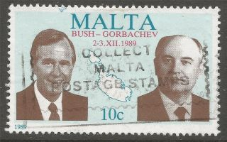 Malta.  1989 Usa - Ussr Summit Meeting,  Malta.  10c A7020 photo