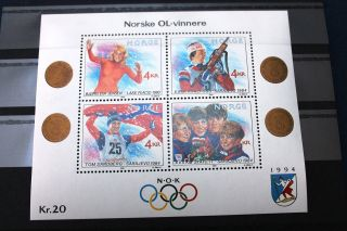 Norway Block 1989 Lillehammer Olympic Games 1 Skating Biathlon Skiing photo