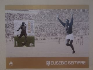 Eusebio Forever Fantastic Tribute Stamp Portugal King Soccer Cup 2014 photo