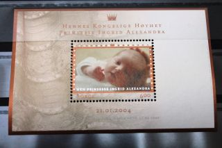 Norway Block 2004 Baptism Of Her Royal Highness Princess Ingrid Alexandra photo