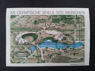 Germany.  Deutsche Bundespost Souvenir Sheet 1972 (mlh) photo