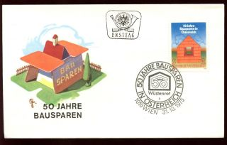 Austria 1975 Building Societies Fdc C9192 photo