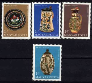 U915 Hungary 1968 Earthenware,  Stamp Day photo