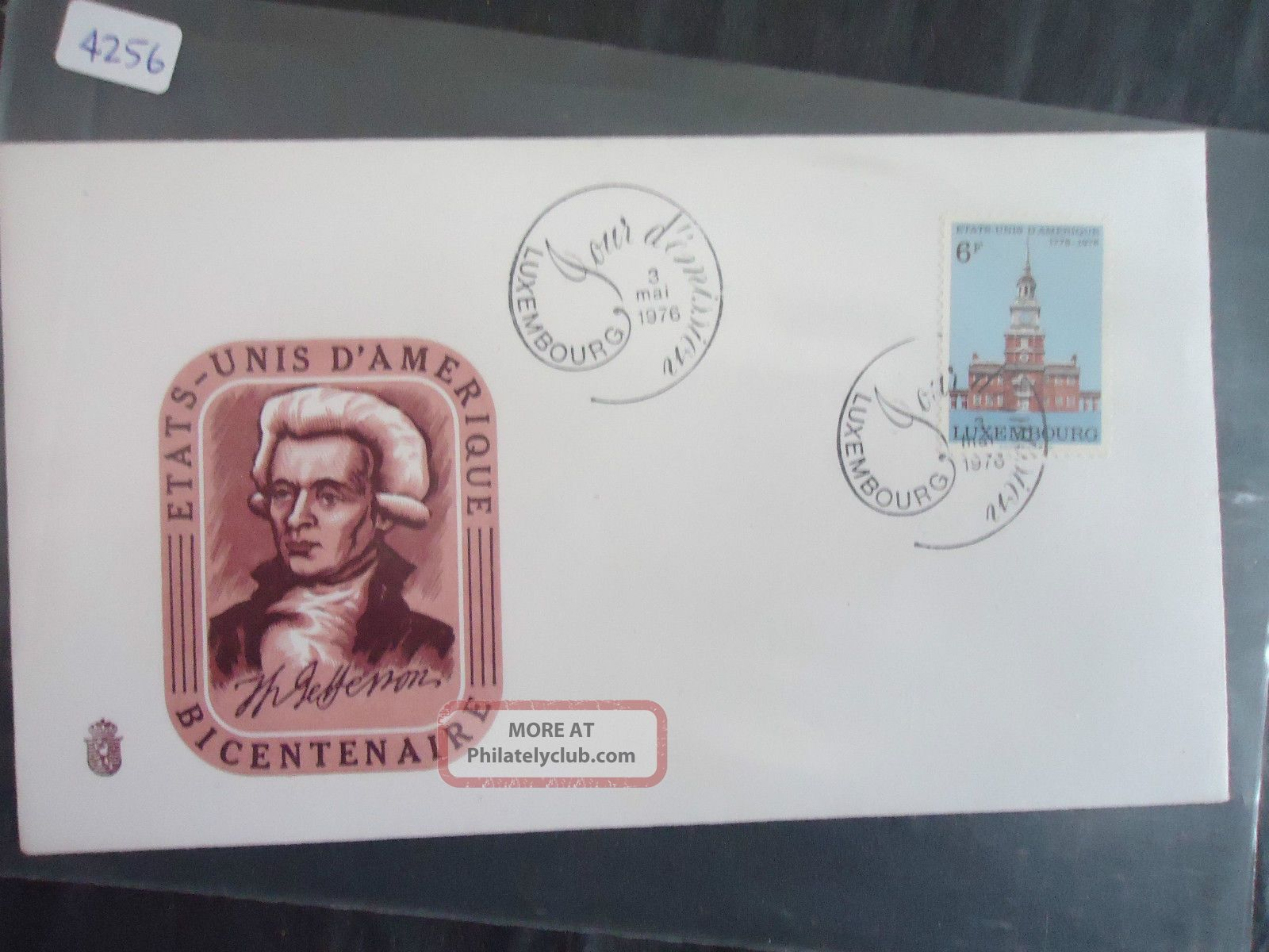Luxembourg 1976 American Bicentennial Cover Europe photo