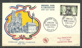 France Sc 796 Yt 1061 Fdc Fvf Reims & Florance photo