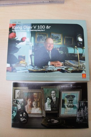 Norway Block 2003 King Olav V 100th Anniversary - Special Presentation Pack photo