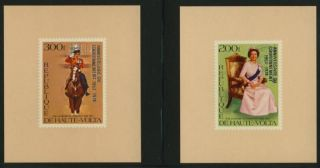 Upper Volta 478 - 9 Deluxe S/s Queen Elizabeth,  Horse photo
