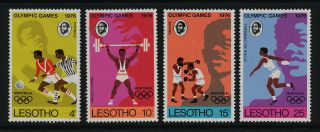 Lesotho 209 - 12 Sports,  Olympics,  Soccer,  Boxing,  Weightlifting photo