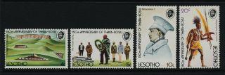 Lesotho 170 - 3 King Moshoeshoe I,  Siege Of Thaba - Bosiu photo