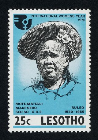 Lesotho 190 Mofumahali Mantsebo Seeiso,  International Women ' S Year photo
