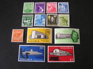 Nigeria,  Scott 101 - 113 (13),  1961 Definitive Issue Mvlh photo
