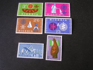 Nigeria,  Scott 128 - 131 (4) +132/133 (2) 1962 Who +2nd Independence Issue Mvlh photo