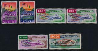 Guinea 201 - 2,  C24 - 6 Aircraft,  Olympic Games O/p,  Flag photo