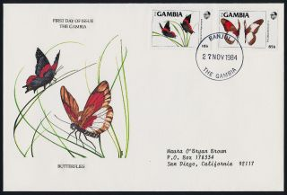 Gambia 533 - 4 On Fdc - Butterflies photo