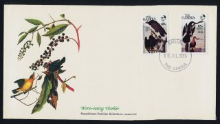 Gambia 551 - 2 On Fdc - Birds,  Audubon Art photo