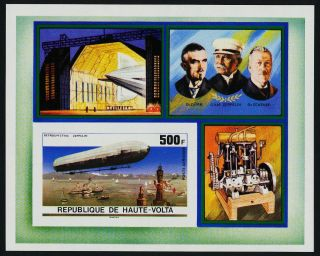 Burkina Faso C237 Imperf Zeppelin photo