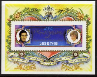 Lesotho 337a Royalty Charles & Diana Wedding photo