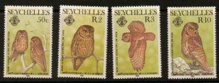 Seychelles Sg605/8 1985 Birth Bicent Of John Audubon (birds) photo