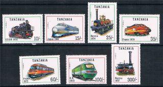 Tanzania 1991 Locomotives Sg1082 - 8 photo
