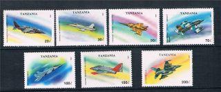Tanzania 1993 Military Aircraft Sg 1673 - 9 photo