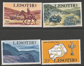 Lesotho Sg171/4 1969 Roof Of Africa Car Rally photo
