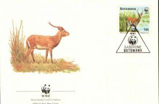 (70246) Fdc Botswana - Red Lechwe Antelope - 1988 photo