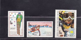 Congo 1979 Lake Placid Olympics Scott C263 - 64,  C266 photo
