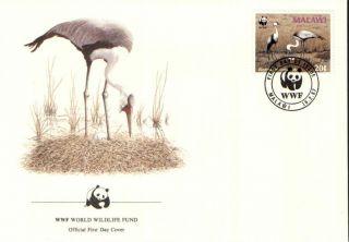 (70274) Fdc - Malawi - Bird Crane - 1987 photo