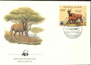 (70325) Fdc - Mali - Eland Antelope - 1986 photo