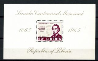 Liberia 1965 Sg Ms912 Abraham Lincoln M/s A32492 photo