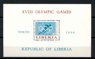 Liberia 1964 Sg Ms904 Olympic Games M/s A32486 photo