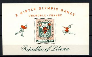 Liberia 1967 Sg Ms978 Winter Olympic Games M/s A32499 photo