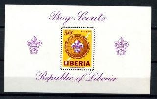 Liberia 1965 Sg Ms908 Boy Scouts M/s A32490 photo