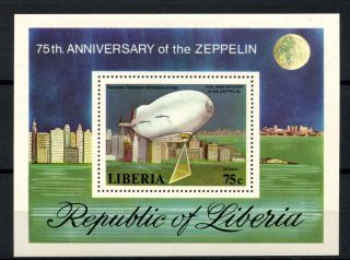 Liberia 1978 Sg Ms1340 Zeppeline M/s A32530 photo