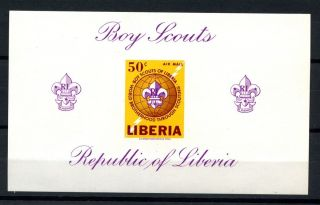 Liberia 1965 Sg Ms908 Boy Scouts Imperf M/s A32491 photo