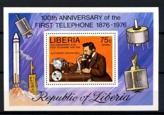 Liberia 1976 Sg Ms1283 Telephone Centenary M/s A32524 photo