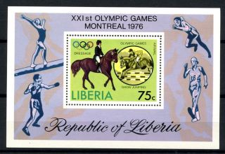 Liberia 1976 Sg Ms1276 Olympic Games M/s A32522 photo