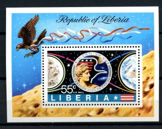 Liberia 1973 Sg Ms1148 Apollo 17 Moon Flight M/s A32513 photo