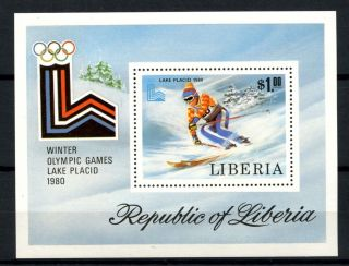 Liberia 1980 Sg Ms1455 Winter Olympic Games M/s A32534 photo