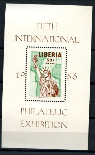 Liberia 1956 Sg Ms783 Philatelic Exhibition M/s A32473 photo