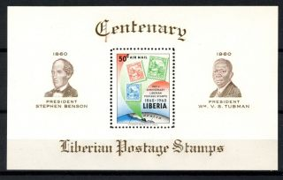 Liberia 1960 Sg Ms840 Stamp Centenary M/s A32476 photo