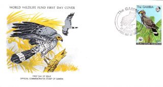 World Wildlife Fund First Day Cover - The Gambia - The Harrier Hawk - Issue No 97 photo