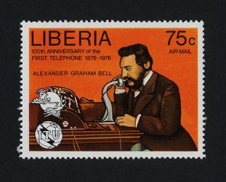 Liberia C212a Telephone,  Alexander Graham Bell photo