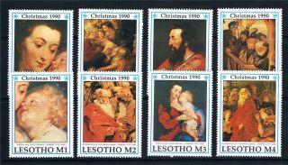 Lesotho 1990 Christmas Sg 989/96 photo
