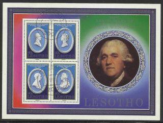 Scott 296 Lesotho 1980 Souvenier Sheet Cto Birth Of Joseph Wedgwood Z6 photo