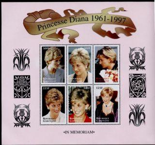 Gabon 908 Diana,  Princess Of Wales,  Royalty photo