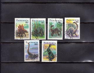 Tanzania 1991 Dinosaurs Scott 759 - 764 Cancelled photo